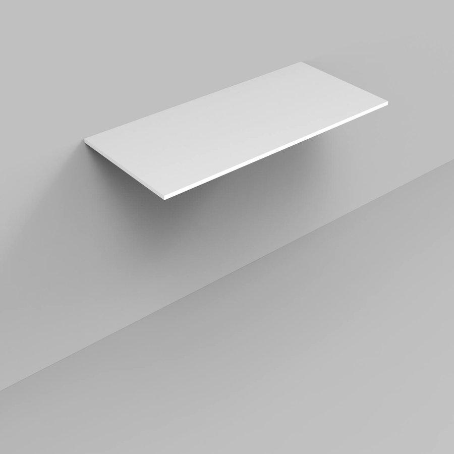 Badkamermeubelset Industrieel AQS Frame Staand 100 Mat Zwart Aluminium (exclusief wastafel/waskom)