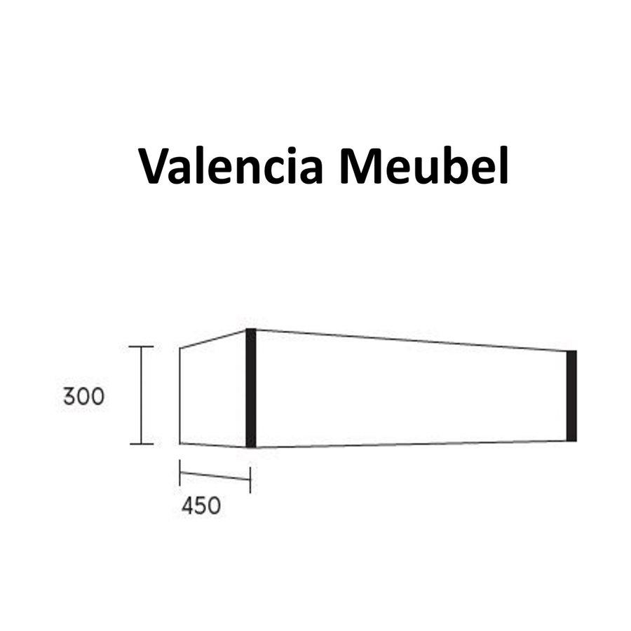 Badmeubel AQS Valencia Carrara Mat 120 cm Solid Surface Ronde Wasbak (zes varianten)