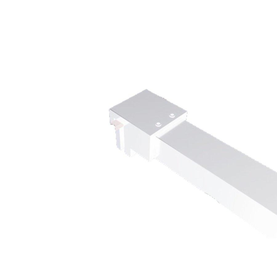 AQS Inloopdouche Pro Line Helder Glas Mat Wit Profiel en Stabilisatiestang (ALLE MATEN)