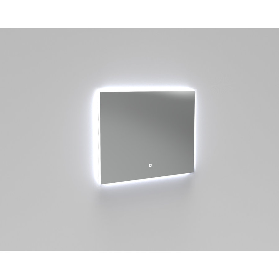 Badkamermeubelset Industrieel AQS Frame Staand 90 Mat Zwart Aluminium (1 kraangat)