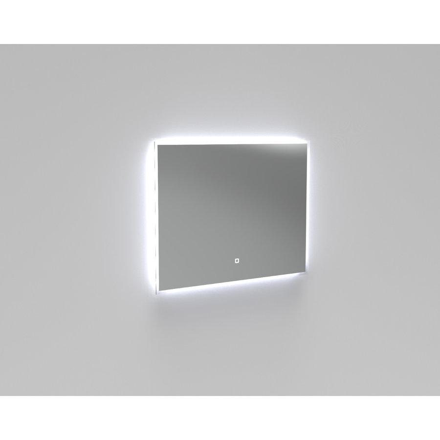 Badkamermeubelset Industrieel AQS Frame Staand 90 Mat Zwart Aluminium (zonder kraangat)
