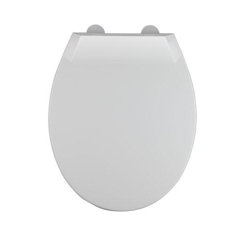 Toiletzitting Allibert Mila Afklikbaar 37,2x5,2x45 cm Soft-Close Kunststof Wit