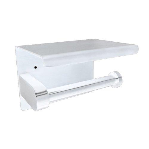 Toiletrolhouder met Plateau Boss & Wessing RVS Mat Wit