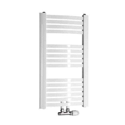 Handdoekradiator Sapho Aqualine Gebogen 45x81.7 cm Wit