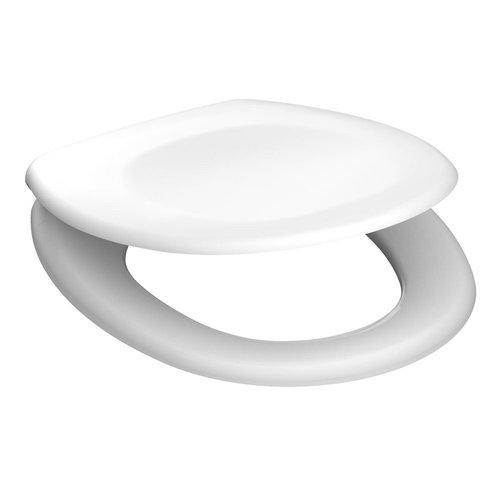 Toiletzitting Schutte White Duroplast Soft Close 45 x 37 cm Wit