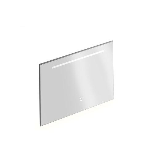 Badkamerspiegel Xenz Bardolino 100x70 cm met Horizontale Verlichtingsbaan en Spiegelverwarming