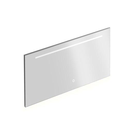 Badkamerspiegel Xenz Bardolino 140x70 cm met Horizontale Verlichtingsbaan en Spiegelverwarming