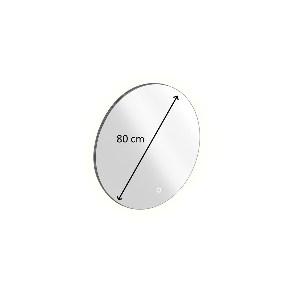 Badkamerspiegel Rond met LED-Verlichting Xenz Salo 80 cm