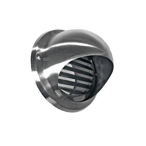 Bolrooster BWS Ventilatie Aansluitmaat Ø 125 mm Met Muggengaas RVS