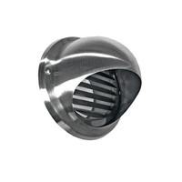 Bolrooster BWS Ventilatie Aansluitmaat Ø 160 mm Met Muggengaas RVS