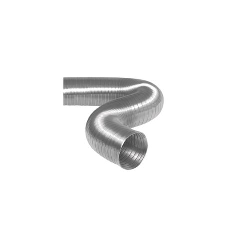 Semi-Flexibele Slang Ø 125mm 2 Meter Lang Aluminium