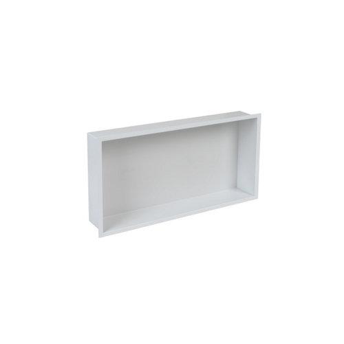 Inbouwnis Plieger Inbox Wand Met Flens 60x30x7.5cm Waterproof Wit