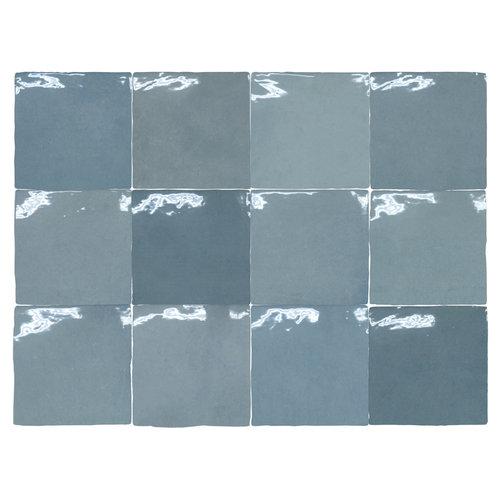 Wandtegel Rajoles Tesanal Azul Brillo 13x13 cm (prijs p/m2)