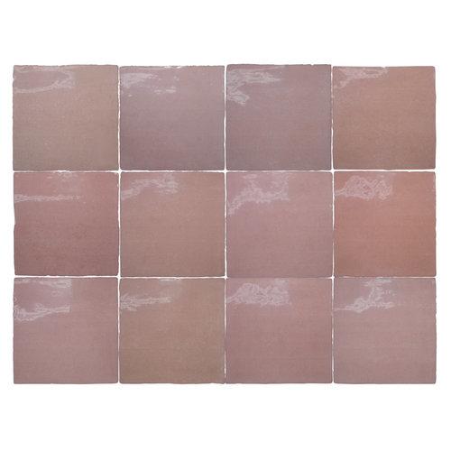 Wandtegel Rajoles Tesanal Rosa Brillo 13x13 cm (prijs p/m2)