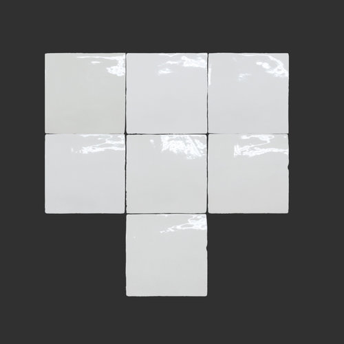 Wandtegel Rajoles Tesanal Snow Brillo 13x13 cm (prijs p/m2)
