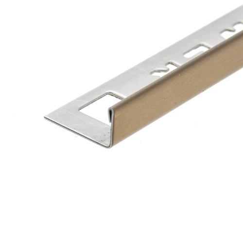 Tegelprofiel  OX-Tools Eltex 11mm 270 cm RVS Geborsteld Koper