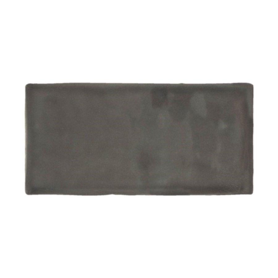 Wandtegel Atlas Graphite Brillo 7.5x15 cm Glans Antraciet (prijs p/m2)
