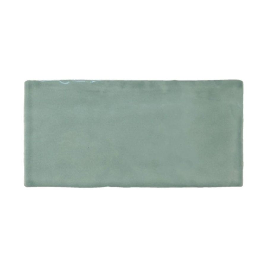 Wandtegel Atlas Jade Brillo 7.5x15 cm Glans Groen (prijs p/m2)