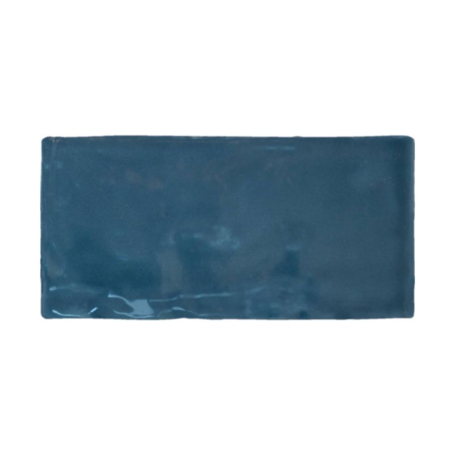 Wandtegel Atlas Marine Brillo 7.5x15 cm Glans Donker Blauw (prijs p/m2)