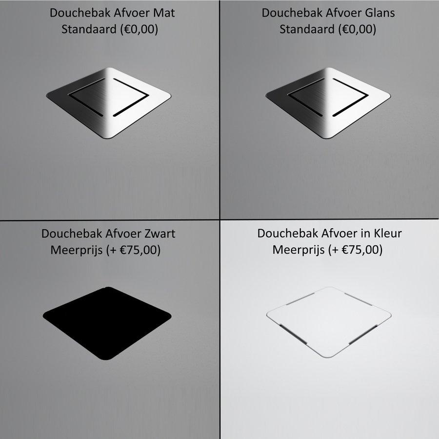 Douchebak Texence Diamond met Afvoer Hoogwaardig Composiet (alle maten, alle kleuren)