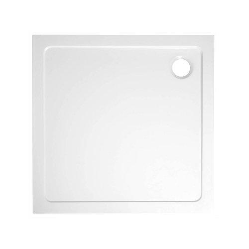 Douchebak Marmer Sapho Aqualine 80x80x3 cm Vierkant Wit