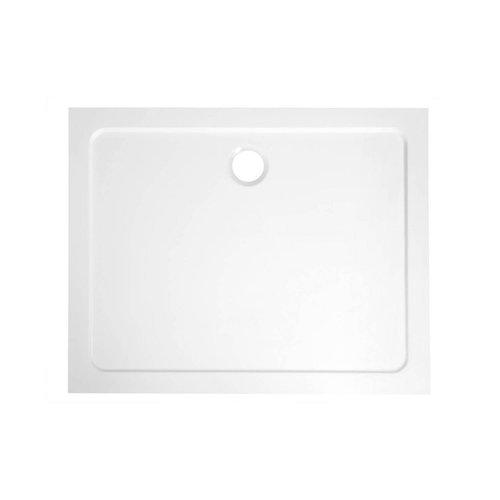 Douchebak Marmer Sapho Aqualine 100x90x3 cm Rechthoek Wit