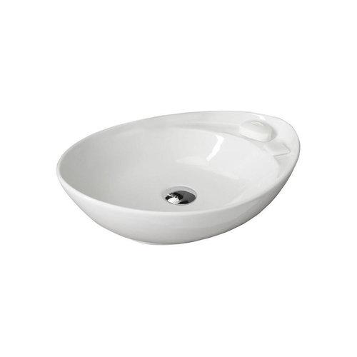 Waskom Opbouw Sapho Beverly Ovaal 56x17x37 cm Keramiek Wit