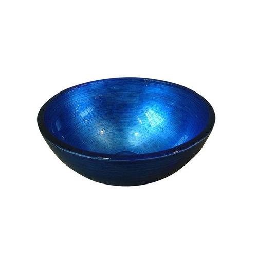 Waskom Sapho Murano Rond 40x14 cm Glas Blauw
