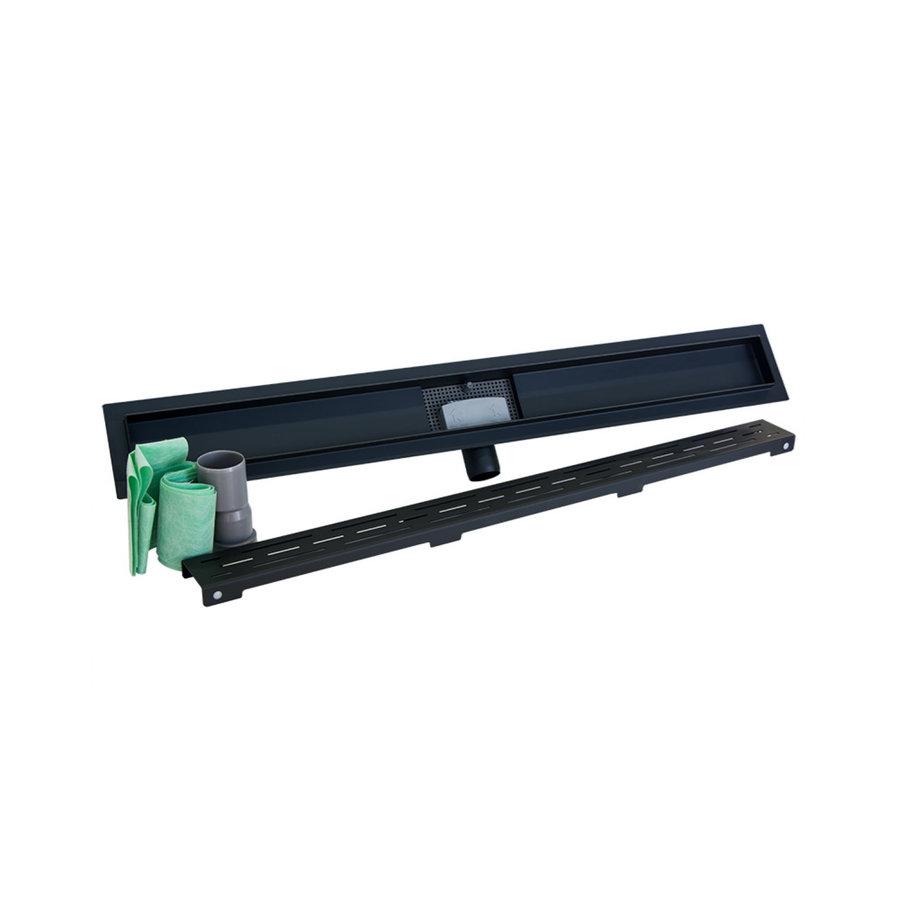Douchegoot Sanilux 60 cm Mat Zwart met Sifon