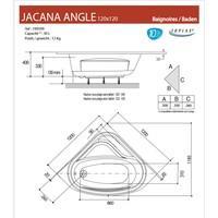 Badmantel Voor Hoekbad Allibert Jacana 120x120 cm Wit
