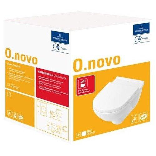 O.novo combi-pack m. wandcloset diepspoel m. softclose zitting