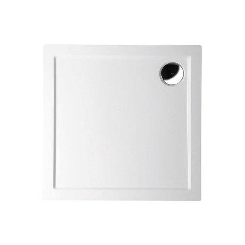 Douchebak Marmer Sapho Aura 80x80x4 cm Vierkant Wit