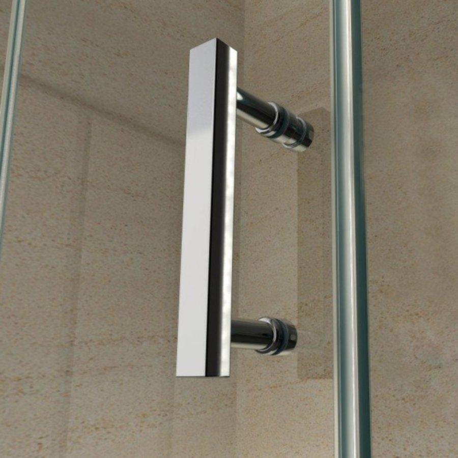 Douchecabine BWS Goodkoop Vierkant 90x90 cm 6mm Helder Glas met Nanocoating