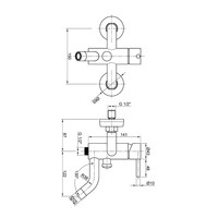 Badkraan Opbouw Sapho Minimal Mengkraan 1-hendel 21.5 cm RVS