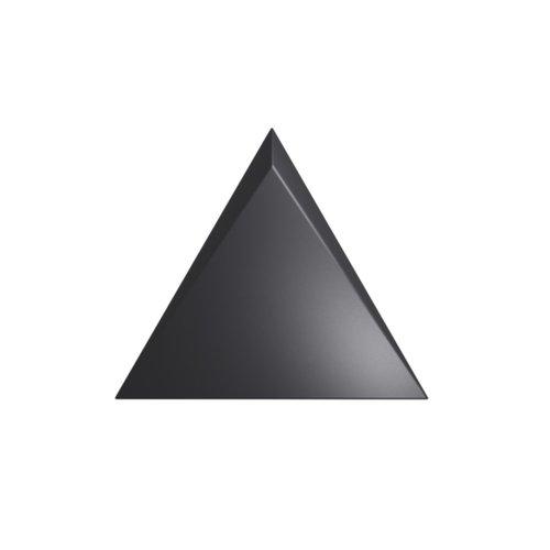 Wandtegel Zyx Triangle Channel Black Mat 15x17 cm Mat Zwart