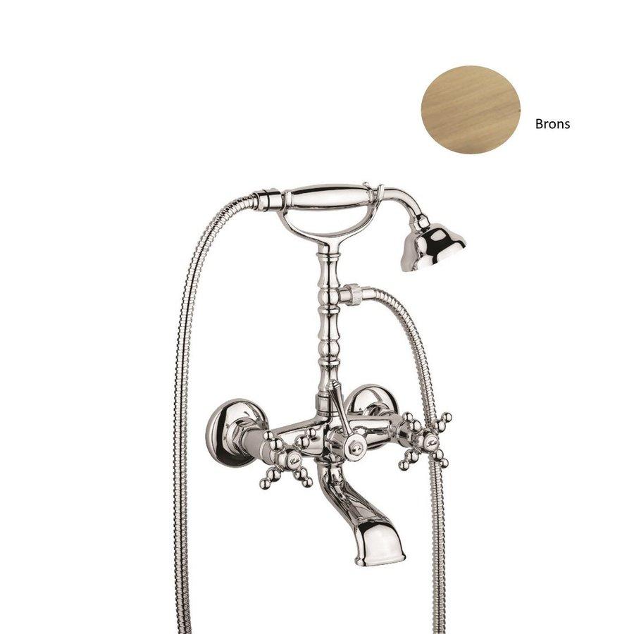 Badset Sanimex Giulini Opbouw Kruisgreep HoH 15cm Incl. Handdouche Brons