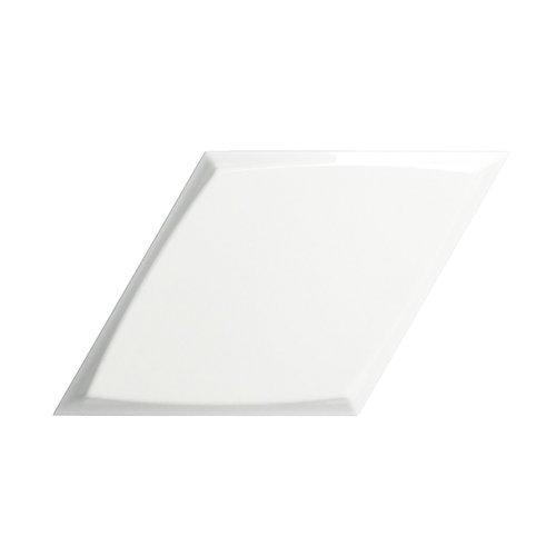 Wandtegel Zyx Diamond Zoom White Glossy 15x25.9 cm Glans Wit