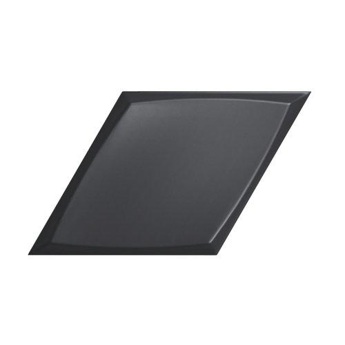 Wandtegel Zyx Diamond Zoom Black Matt 15x25.9 cm Mat Zwart