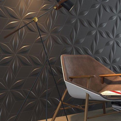 Wandtegel Zyx Diamond Blend Black Matt 15x25.9 cm Mat Zwart