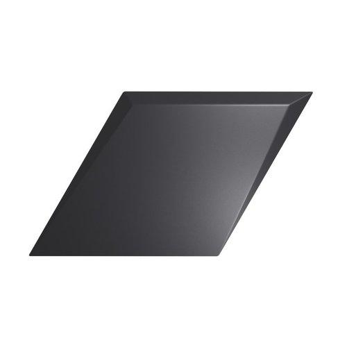Wandtegel Zyx Diamond Drop Black Matt 15x25.9 cm Mat Zwart