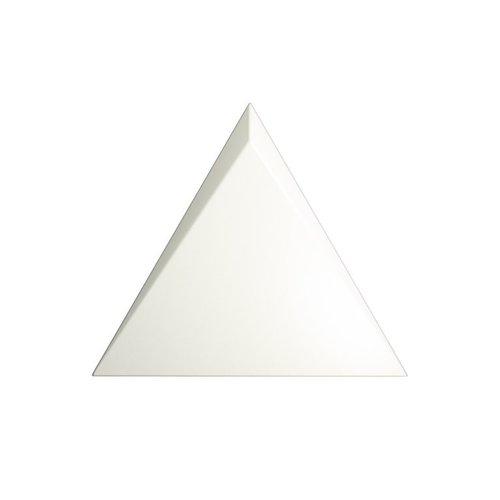 Wandtegel Zyx Triangle Cascade White Matt 15x17 cm Mat Wit