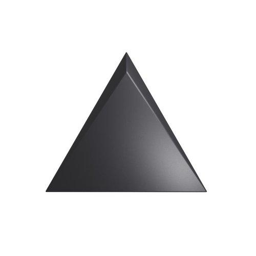 Wandtegel Zyx Triangle Cascade Black Matt 15x17 cm Mat Zwart
