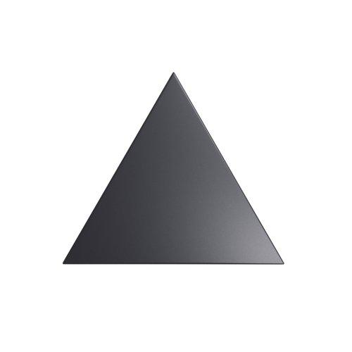 Wandtegel Zyx Triangle Layer Black Matt 15x17 cm Mat Zwart