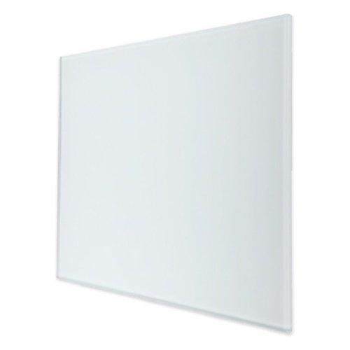 Ventilatierooster Design BWS Ventilatie Vierkant 10cm Vlak Glas Mat Wit