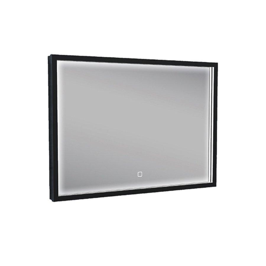 Badkamerspiegel met LED-Verlichting Wiesbaden Condensvrij 70x50 cm Mat Zwart