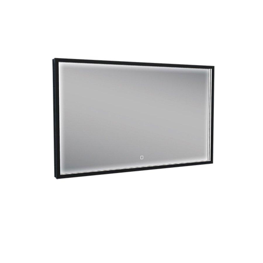 Badkamerspiegel met LED-Verlichting Wiesbaden Condensvrij 100x60 cm Mat Zwart