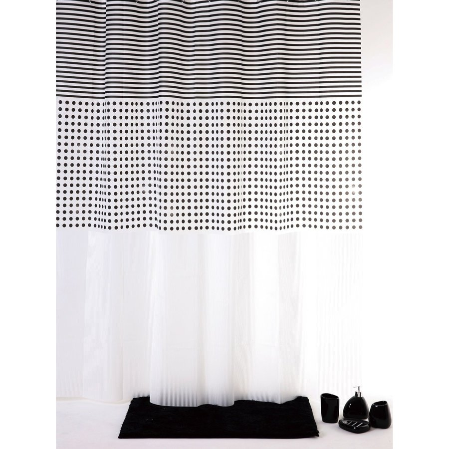 Allibert Douchegordijn Grey Lijn 180x200cm