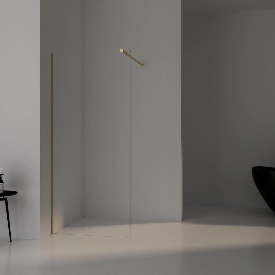 AQS Inloopdouche Pro Line Helder Glas Yellow Titanium Profiel en Stang (13 varianten)