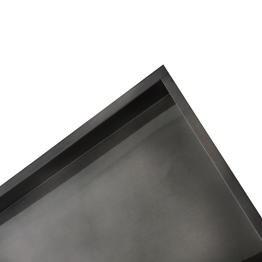 Inbouwnis Wiesbaden 30x30x7 cm RVS Black Chrome