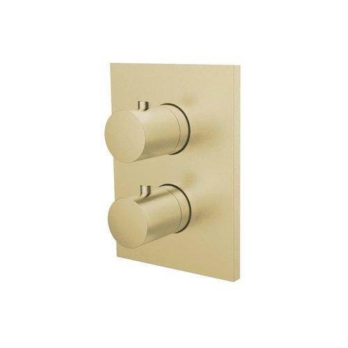 Inbouw Douchekraan 3-Weg Herzbach Design IX Thermostatisch PVD-Coating Messing Goud